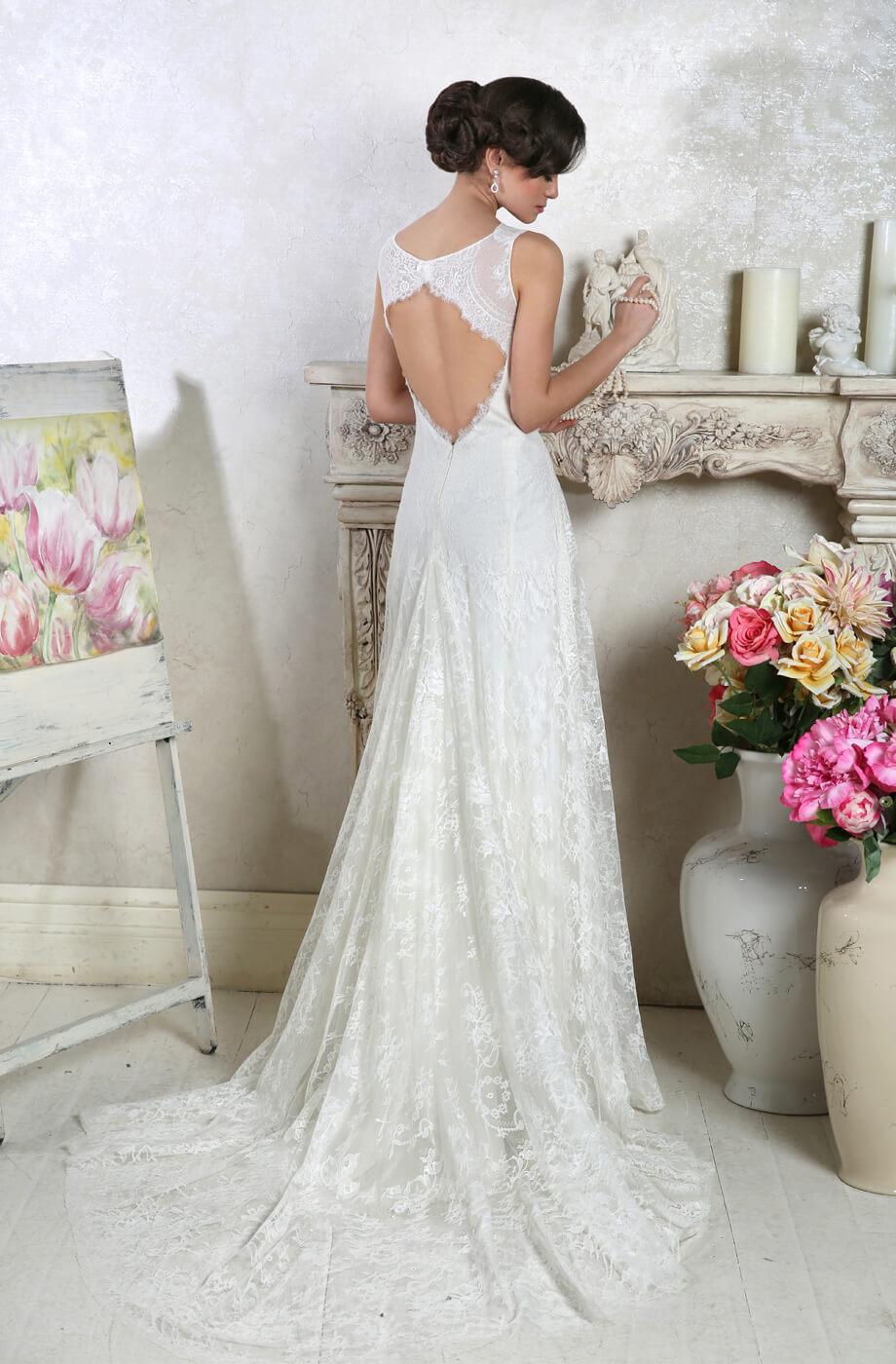 robe mariée dentelle dos nu