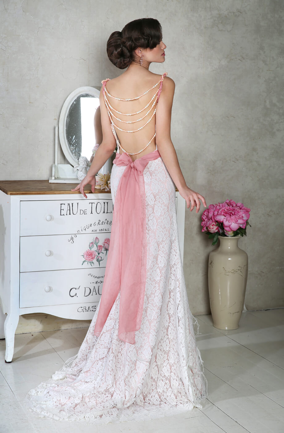 robe de mariée en couleur dos nu