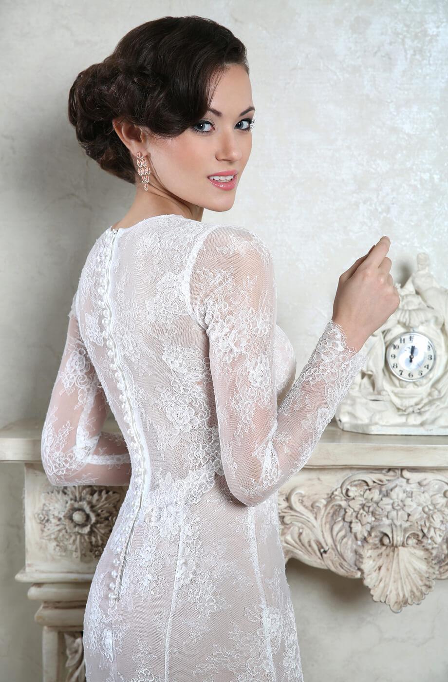 robe mariee dentelle avec les manches